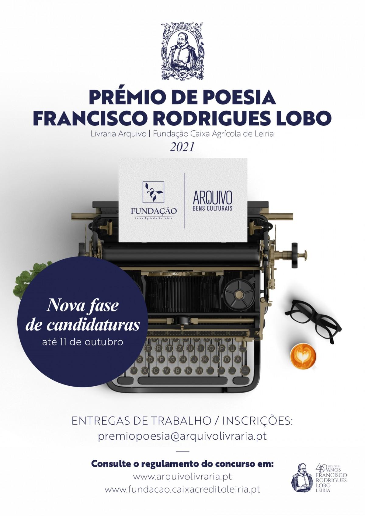 Novo período de candidaturas Prémio Francisco Rodrigues Lobo