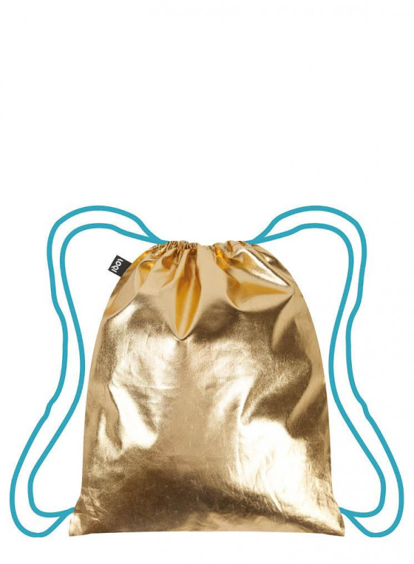MOCHILA METALLIC GOLD-AZUL