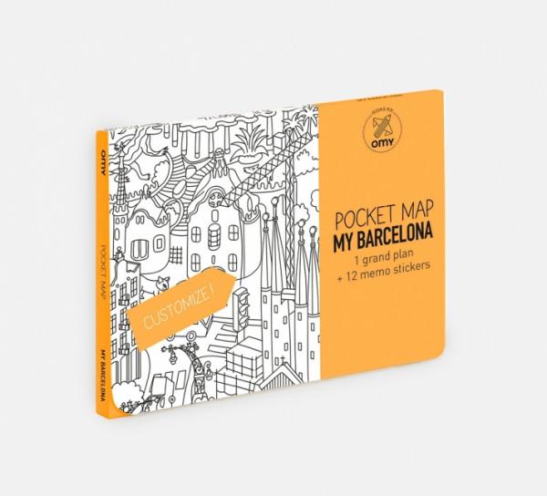MY BARCELONA - MAPA DE BOLSO