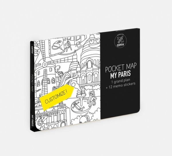 MY PARIS - MAPA DE BOLSO